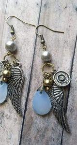 Dangle Angel Wing Earrings
